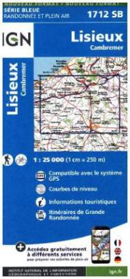 IGN Karte, Serie Bleue Lisieux Cambremer