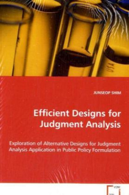 Efficient Designs for Judgment Analysis