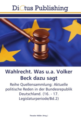 Wahlrecht. Was u.a. Volker Beck dazu sagt