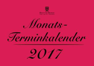 Monatsterminkalender 2017