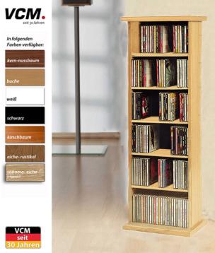 """CD-Möbel """"Vostan - sonoma-eiche (sägerau)"""" für 150 CDs"""