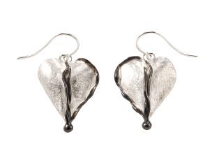 Ohrhänger in Herzform 925- Silber