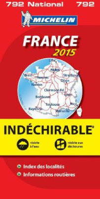 Michelin Karte France 2015, Indéchirable