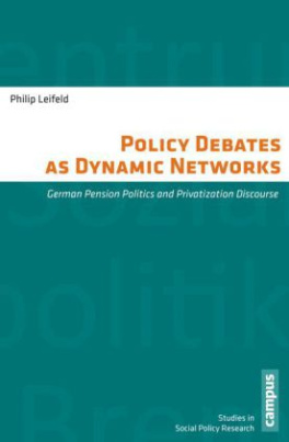 Policy Debates as Dynamic Networks