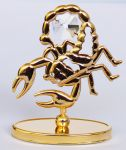 Sternzeichenfigur mit Swarovski Kristallen Skorpion (scorpio)