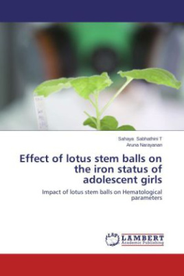 Effect of lotus stem balls on the iron status of adolescent girls