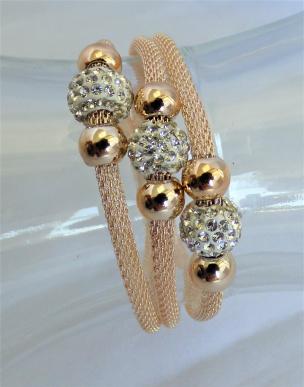 Damen Armband rose'gold farbig mit Magnetverschluss