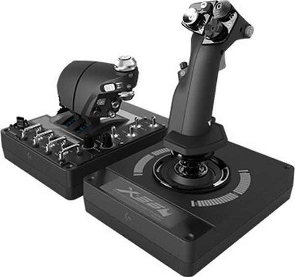 "LOGITECH G Gaming-Joystick ""X56 H.O.T.A.S."" (Schubregler- & Stick-RGB-Controller)"