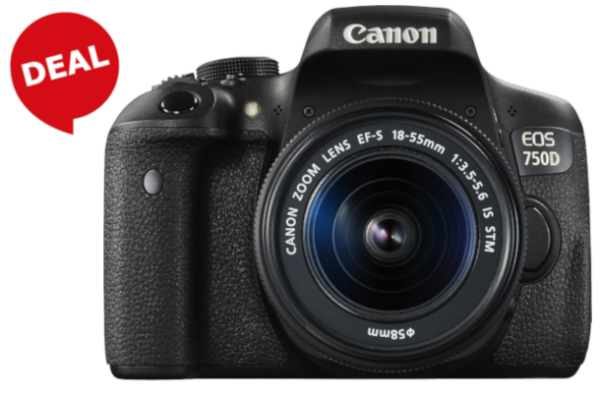 "CANON Kamera ""EOS 750D"" (24,2 Megapixel, Canon EF-S 18-55mm f/3.5-5.6 IS STM Zoom)"