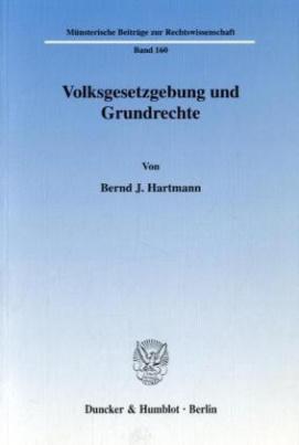 Volksgesetzgebung und Grundrechte