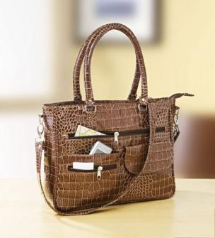 Kroko-Handtasche