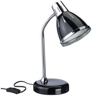 Schreibtischlampe flexibel schwarz / silber