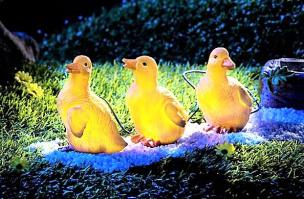 Solarleuchte Enten 4tlg.