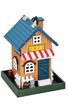 Holz-Vogelfutterhaus Café