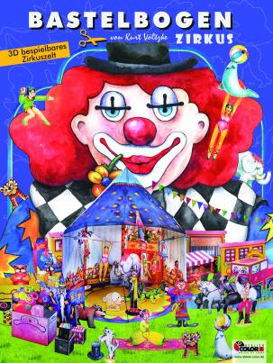 Bastelbogen Zirkus