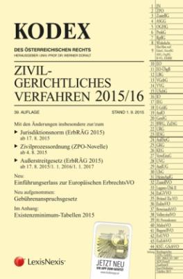 Kodex Zivilgerichtliches Verfahren 2015/16