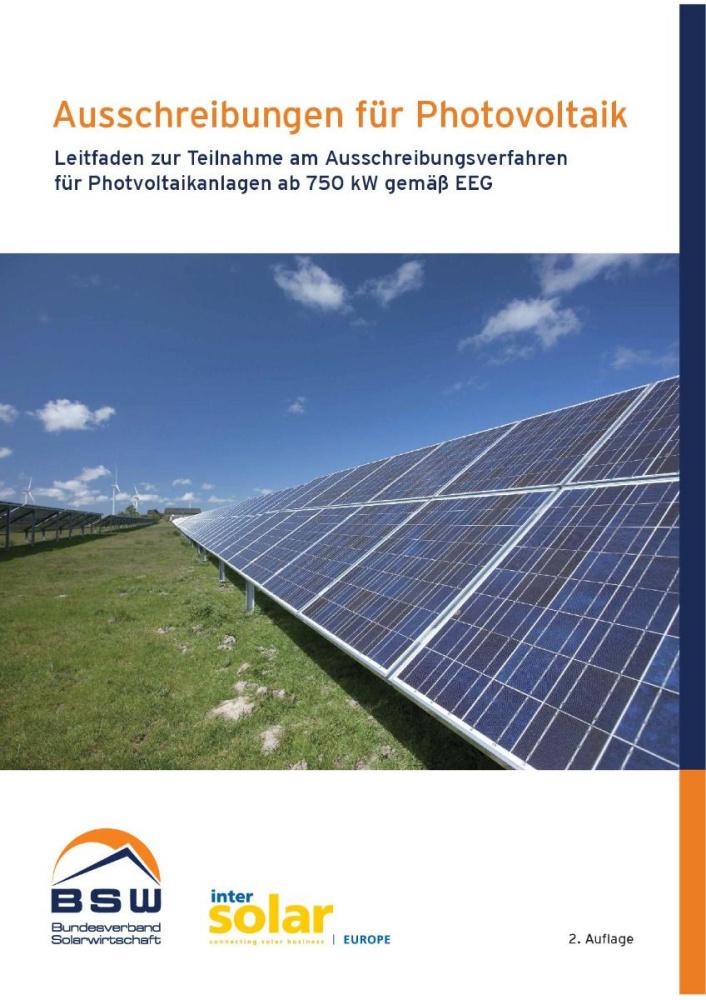 Leitfaden zur Teilnahme am Ausschreibungsverfahren für Photovoltaikanlagen ab 750 kW gemäß EEG