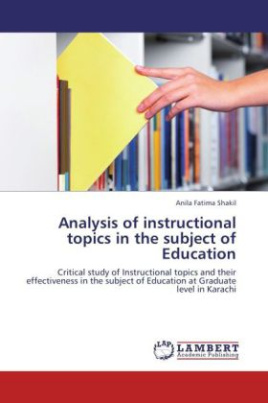 Analysis of instructional topics in the subject of Education