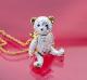 "Goldfarbige Kette mit Anhänger ""Teddybär"""