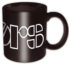 The Doors Logo Black Boxed Tasse