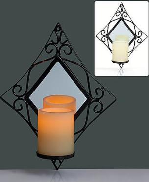 Edler Wandhalter - Kerze mit Spiegel