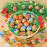 Vollmilch-Schokoladen Eier im Spankörbchen