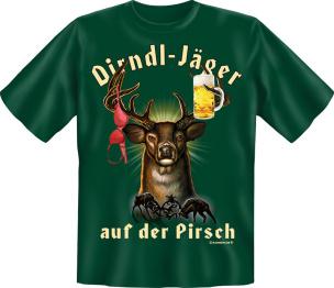 """T-Shirt """"Dirndl - Jäger"""" Größe: XL"""