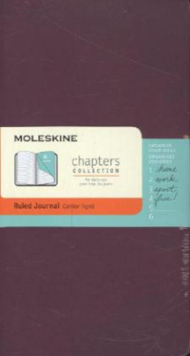 Moleskine Chapter-Notizheft Slim Medium, Liniert, Pflaume