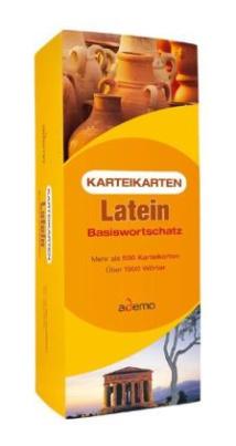 Karteikarten Latein Basiswortschatz, m. Lernbox