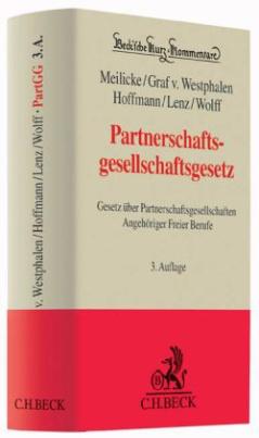 Partnerschaftsgesellschaftsgesetz (PartGG), Kommentar