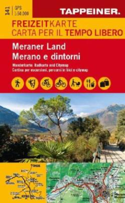 Meraner Land, Freizeitkarte. Meraneo e dintorni, Carta per il tempo libero