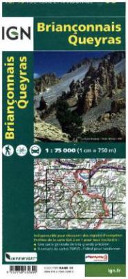 IGN Karte, Tourisme et Randonnée Brianconnais Queyras