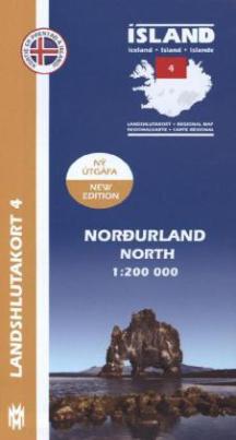 Island - Landshlutakort Nordurland (Nordosten)
