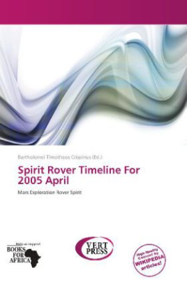 Spirit Rover Timeline For 2005 April