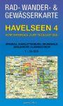 Rad-, Wander- und Gewässerkarte Havelseen 4: Wannsee – Tegeler See